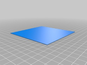 Big Flat Square for Bed Level ZStep and Extrusion