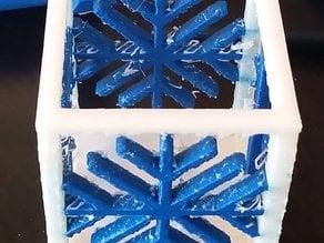 Snow Flake Lantern Dual Extrude