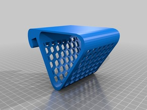 Simple phone holder with honeycomb pattern