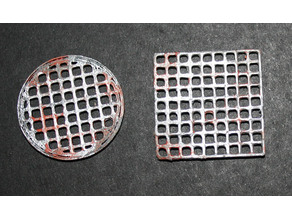 Gaming Terrain Round and Square Sewer grates For D&D or Warhammer 40k