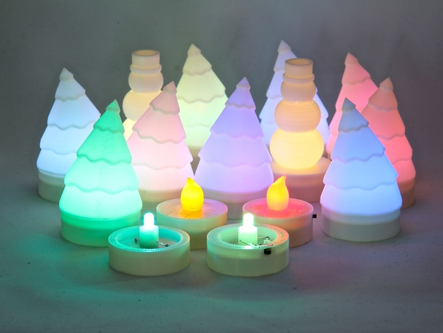parametric led tea light by jetty