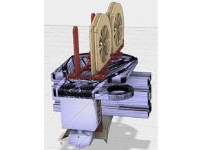 Tevo Tarantula Dual Extruder with sensor and 50mm radial fan ports.