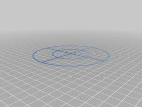 120mm Levelling Target Circle for Delta / Kossel Printers