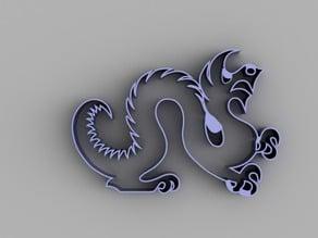 Drexel Dragon Cookie Cutter