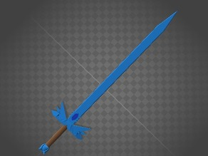 Intricate Minecraft Diamond Sword