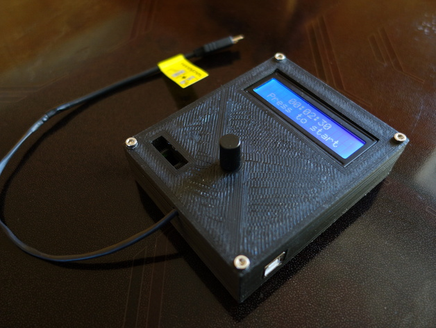 Template for arduino uno case lcd v battery holder