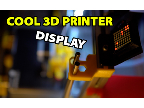 MAX7219 3D Printer Display Case for Marlin Firmware
