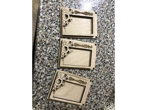 2018 Snowflake Wallet Ornament Frame
