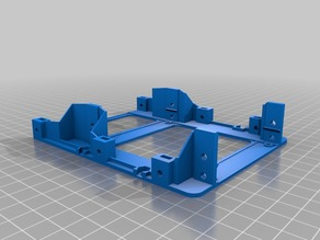"""Remix of Drive Bay Adapter V4 (3.5"""" to 2x2.5"""") by TheGoatPuncher (less plastic)"""