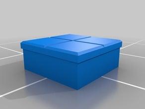 Tente tile 2x2 My Customized OpenSCAD Tente brick generator / Generador de ladrillos TENTE
