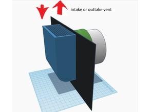 Grow tent no light leaking 100mm, 129mm fan vents