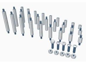 M3 Hexagonal Threaded Spacers (Standoffs) 10/15/20/25/30/35/40/45/50 mm