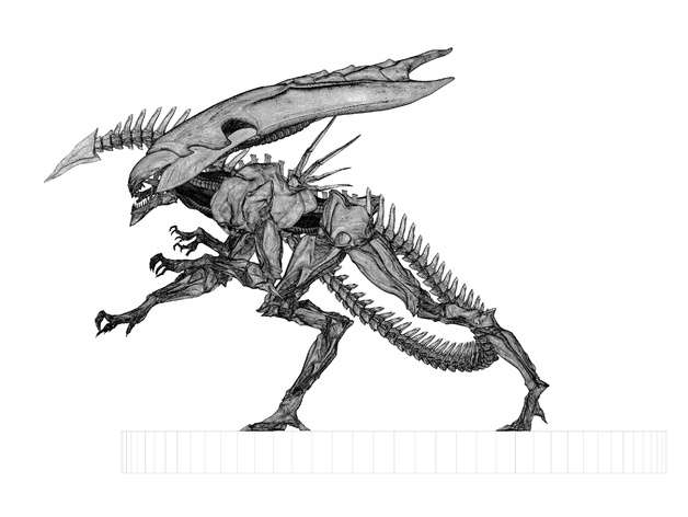 Alien Queen Wip By Dazzadazzadazzadazza Thingiverse