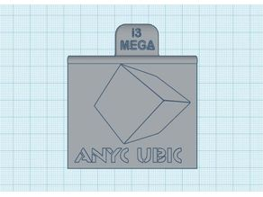 Anycubic i3 Mega Plug Cover with front customizable panel