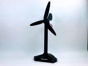 Éolienne Axiale à but ludique et éducatif - Fan wheel