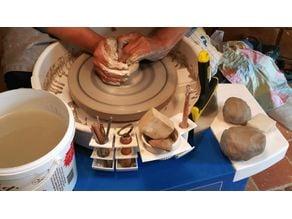 Tool holders for potter wheel