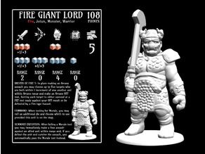 Fire Giant Lord (18mm scale)
