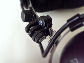 Gopro mount for aviation headset
