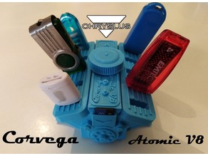 USB HOLDER - Corvega Atomic V8 Motor style