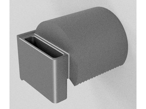 Toilet paper holder with mobile phone pocket