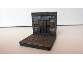 threednd stone wall door