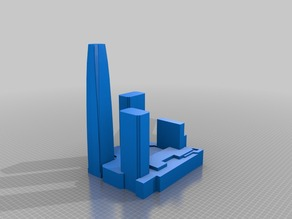 Costanera Center Complex - Solid Model
