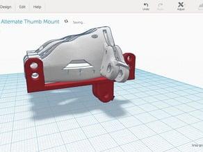 Alternate thumb mount for Cyborg Beast