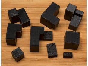 Pythagorean 3,4,5 = 6 Cube(s) Puzzle