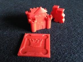 5-piece Kingdomino castle assembly