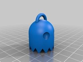 Pacman ghost keychain