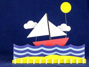 Ocean Scene - Colorful Foamcore Lasercut