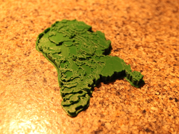 Netherlands Topographic 3D Map MakerEdChallenge 20 by Laura93