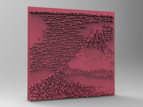 Minecraft 3DPrinting Art Tile - South Wind Clear Sky -