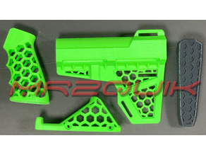 AR-15 Skeleton HexCut Grip Combo
