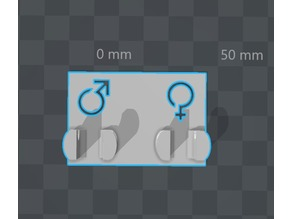 Double support à brosse à dents (homme & femme)