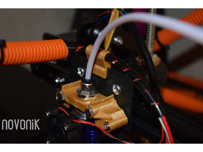 Tronxy X3 simple extruder cable guide