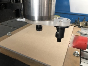 Vinyl cutter knife attachment for CNC router