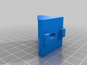 T-slot 30x30 profile corner hole 4mm