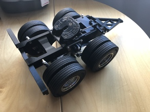 Two axle semi trailer dolly Tamiya 1/14 compatible