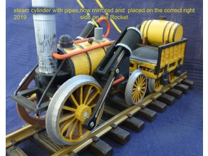 Stephenson Rocket 1:32 train  (1:32, OpenRailway)