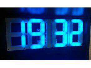 ws2812b LED wall and desktop clock (60LEDs/m 2LEDs/segment)