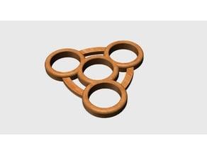 Rounded Fidget Tri-Spinner Design