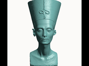 Buste de Nefertiti/Bust of Nefertiti-Real 3D-SCAN