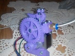 kuro's geared bowden extruder (mk7/mk8, 1.75/3mm, instant locker, gear cleaning brush)