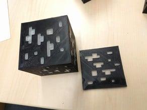 Minecraft diamond ore lamp for double print