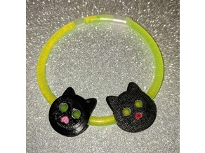 Cat charm for glow stick