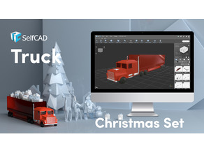 Low poly Christmas Truck