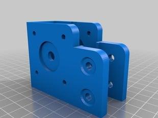 VSlot Mini V 40mm bracket, modified for Lin Engineering NEMA 17 motor