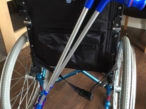 Wheelchair Crutch carrier