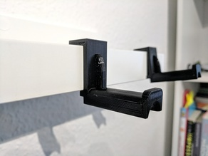 Headphone hanger for IKEA Mosslanda (2018 Europe / Metric version)